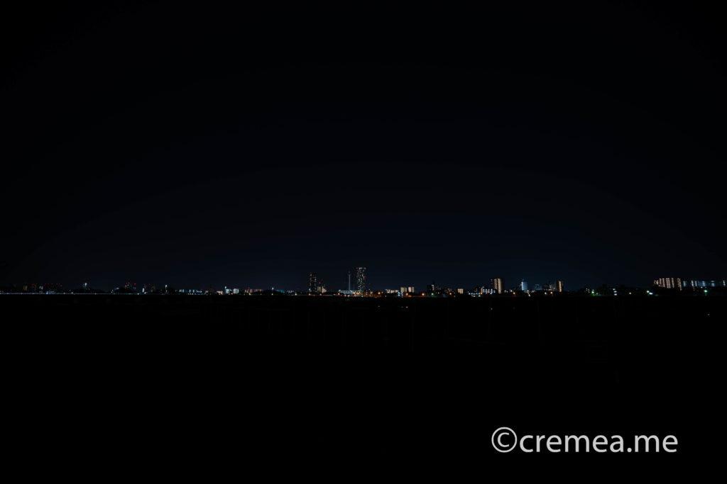 多摩川河川敷の星空|SONY α7Ⅲで撮影
