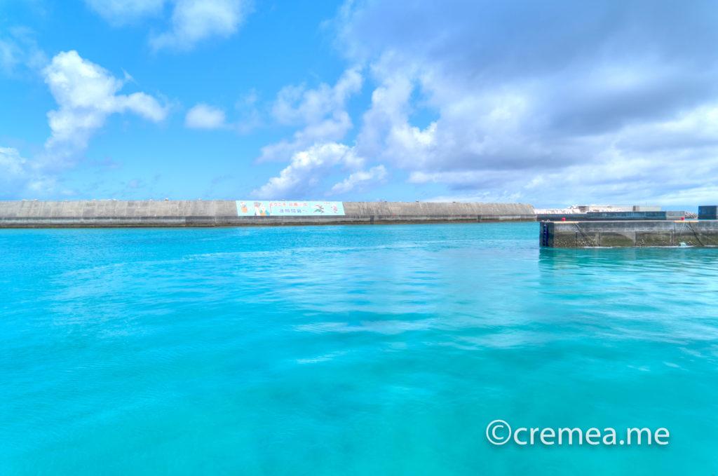 波照間港に到着。綺麗な海。|SONY α7Ⅲで撮影
