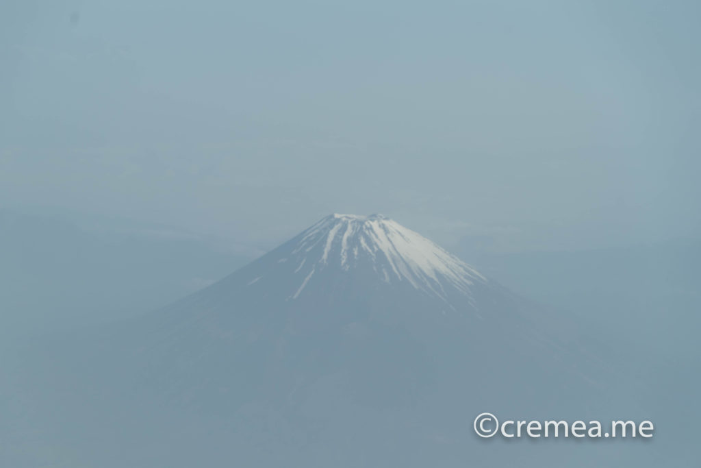 飛行機から見える富士山|SONY α7Ⅲで撮影