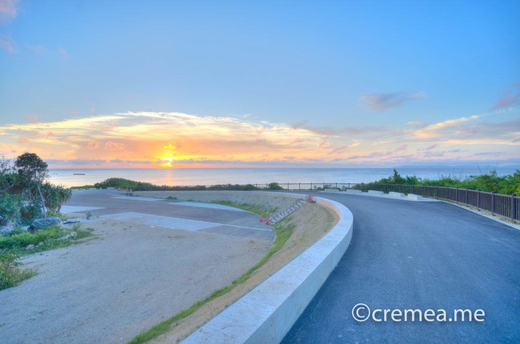 日本のベストビーチに選ばれたニシ浜に沈む夕陽|SONY α7Ⅲで撮影