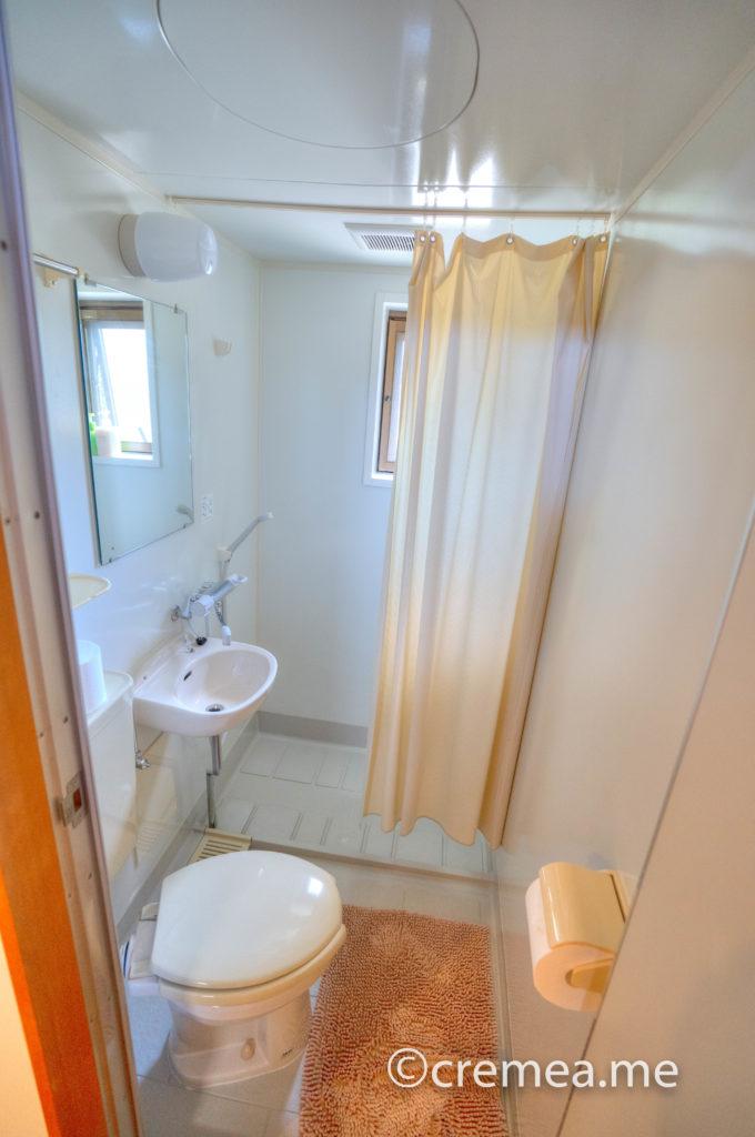 個室内シャワー&トイレ|SONY α7Ⅲで撮影
