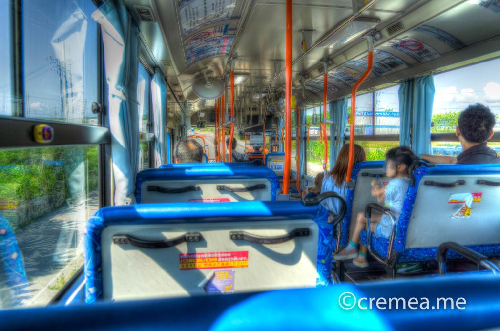 空港から港への路線バス車内|SONY α7Ⅲで撮影