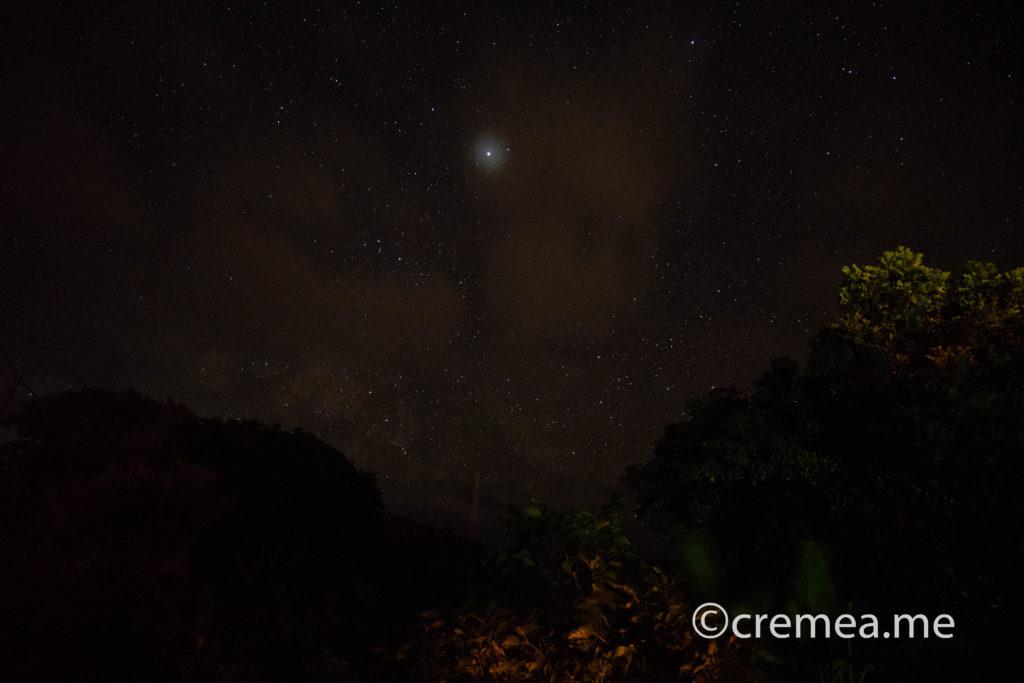 雲に隠れる星空|SONY α7Ⅲで撮影